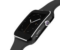 sony telefona para o android venda por atacado-Curvo tela x6 smartwatch smart watch pulseira telefone com slot para cartão sim tf com câmera para lg samsung sony todos os android telefone móvel