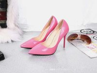 Wholesale Ballet Flat Shoes Price - wholesaler free shipping factory price hot seller patent leather shoes high heel wedding bride sexy lady office women Striped shoe