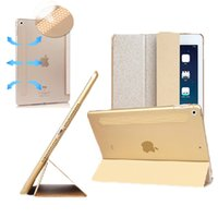 Barato Tampa Do Ouro Para O Ipad-Para iPad mini 1 2 3 Gold Magnetic Slim PU Leather Flip Folio Stand Smart Case Cover Protective Shell