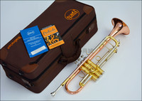 Wholesale bach tr - Wholesale- UPS FREE Senior Bach Phosphorus & copper TR-197GS Bach Trumpet Brass Musical Instrument Trompeta Professional High Grade.