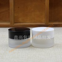 Wholesale Cosmetic Jars Black Lids - wholesale 5g clear frosted glass cream jar with black white plastic lid, 5 gram cosmetic jar,packing for sample eye cream,mini jar