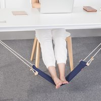 Foot Hammock Fashion Mini Rest Put Feet Swing Footrest Hamac Hangmat Study Table Hang Leisure Hanging Chair 22pn F R