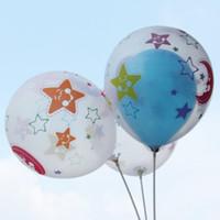 balões infláveis do elogio venda por atacado-Balão Transparente de 12 polegadas Impresso Moon Star Festa De Casamento De Aniversário Decoração E00356 BARD