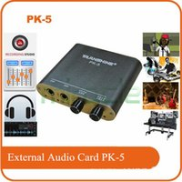 Wholesale Audio Mixing Console - Wholesale- Transhine Audio mixer PK-5 Karaoke machine external computer audio card broadcast recording karaoke monitor mixing console