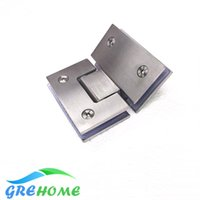 Wholesale Hinges Glass Shower Doors - High Quality 135 Degrees open Stainless Steel Wall Mount Glass Shower Door Hinge