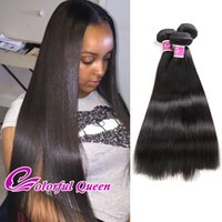 Colorful Queen 7A Cheveux humains non traités 3 lots Real Indian Virgin Straight Hair Weave Bundles Cheap Raw Indian Straight Hair Extensions