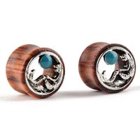 1 Paire Punk Silver Mermaid Ear Plug Gauges Hollow Ear Flesh Tunnel Expander pour Femmes Body Jewelry 12 14 16 18 20mm