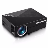 Wholesale dlan hdmi - Wholesale- Excelvan GM60A Mini Portable LED LCD Projector Home Theater HD 800x480P Proyector 1000 Lumens Support DLAN USB SD VGA HDMI AV