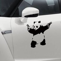 Wholesale Panda Car Sticker - 10*10cm Car styling Outdoor sports Panda car stickers new Kung Fu Panda creative stickers trumpet