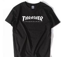 Wholesale Teen Boys T Shirt - Boys summer t-shirt teens high school students short sleeves men flame letters printing cotton students t-shirts