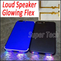 Wholesale Iphone Speaker Flex - For iPhone7 Smart Phone Music Lamp Glowing Flex Make Your Phone Speaker Shinning DIY Glowing Flex for iPhone 7 7Plus 6 6S Plus