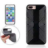Wholesale Cell Phone Slip Case - For iPhone 8 7 Plus Grip Ultra Thin Slim Dual Layer Cell Phone Case Non Slip Scratch Resistant Cover with Retail Package