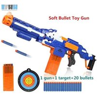 Wholesale Electric Toy Submachine Guns - Electric soft bullet toy gun sniper rifle plastic toy gun for children boys toy submachine gun Best Gift