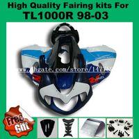 Wholesale Suzuki Fairing Bolts Black - 9Gifts + Fairing kits for SUZUKI TL1000R 1998 1999 2000 2001 2002 TL1000 R 98 99 00 01 02 Fairings kit blue white black windscreen bolts
