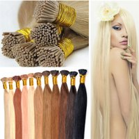 Wholesale Cheap I Tip Extensions - Super cheap human hair extensions straight brazilian remy i tip human hair 1g pcs 100g pack large in stock