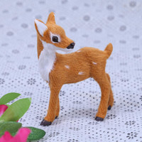 Wholesale Cute Deer Stuffed Animals - Stuffed Deer Doll Cute Simulation Small Deer Wedding Decoration Christmas Presents Simulation Animal Mini Deer Dools