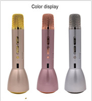 Wholesale Hand Held Computers - K088 Bluetooth Wireless Microphone Bluetooth Speaker Small Hand-held Karaoke Player KTV Singing Mobile Phone Play Music