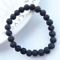 Wholesale Craft Wholesale Stones - New Arrival 8mm Lava Rock Beads Charms Bracelets Beads Men's Women's Natural stone Strands Bracelet For Fashion Jewelry Crafts