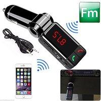 prise usb mp3 achat en gros de-Transmetteur FM Kit voiture MP3 Lecteur de musique Lecteur audio sans fil Bluetooth avec 2 ports USB Prise AUX-Main Main libre