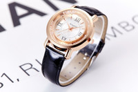 Wholesale New Rolling Stones - leather watch band crystal luxury brand watch quailty brand rolling stone wristwatch fashion female clock pu leather gift students timepiece