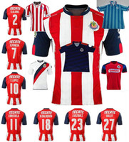 Wholesale Black Mexican Top - Top quality Mexican soccer jerseys 16 17 Chivas survetement football shirts 2017 Guadalajara top thai BRAVO REYNA futebol camisa de jerseys