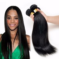 Wholesale Heat Resistant Synthetic Hair Extension - 2017 New Design Synthetic Hair Extensions Silky Straight Black Hair Cheap Weft Heat Resistant Synthetic Weaving For Black Women