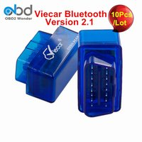 Wholesale Car Diagnostics Auto Scanner - Wholesale- 10Pcs Lot 2017 Wholesale Viecar ELM327 Bluetooth MINI ELM 327 OBD2 Scanner For Multi-Brand Cars Auto Diagnostics Tool Free Ship