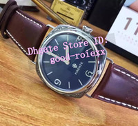 Wholesale Steel Dive Case - Limited Edition Men's Steel Case Acciaio Pam Firenze Watch Men Retro Pam672 Leather Watches Mens Classic 00672 Dive Top AAA Wristwatches