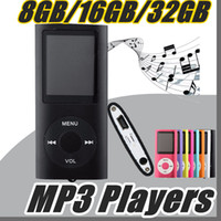 "Wholesale Mp3 Mp4 Player Micro Sd - DHL 2017 MP3 MP4 Player Slim 4TH 1.8""LCD Video Radio FM Player With 8GB 16GB 32GB Micro SD TF Card Mp4 4th Genera B-MF"