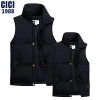 Wholesale Korean Winter Fashion Vest Coat - Wholesale- The new men's and women's autumn winter couple vest Korean solid collar down vest fashion men leisure coat vest 55