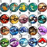 Wholesale Pikachu Jewelry - high quality 024 Pikachu 20A Hot Sale 18mm 12mm 20mm Button Glass Snap Button For Women Charm Bracelet Jewelry Accessories