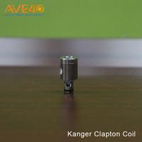 ingrosso bobina di clapton sottile kanger-Bobine sostitutive originali Kanger OCC Clapton 0,5ohm Bobina 0,5ohm per serie Subtank / Serie Toptank / Bobina Kangertech NEBOX