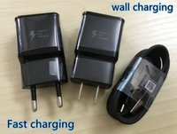 Wholesale Eu Uk Plug Adapter Black - Original OEM Black US EU UK Plug Fast Charging USB Wall Charger Adapter + 1.2m USB Type C Data Charging Cable For Samsung Galaxy S8 Edge S6