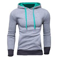 Wholesale tracksuits hoodies sweatshirt moleton suit online – oversize New Brand Sweatshirt Men Hoodies Fashion Solid Fleece Hoodie Mens Hip Hop Suit Pullover Men s Tracksuits Moleton Masculino