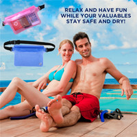 Wholesale cell phone wallet money case resale online - Hot Selling Cell Phone Bag Case Waterproof Sport Waist Pouch for Beach Swimming Boating Rafting for Wallet Money Coin Holder