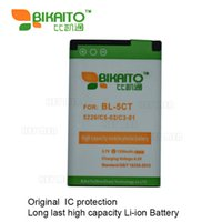 Wholesale Bl 5ct Battery - BL-5CT Mobile Phone 3.7V 1350mah Battery For Nokia 5220 C5-02 C3-01