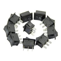 Wholesale 125v Ac Free Shipping - Wholesale- J34 Free Shipping 5pcs lot Terminal Snap-in On-Off Boat Switch Black Rocker 3 Pin AC 6A 250V 10A 125V New
