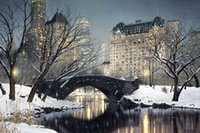 Wholesale Painting Rods - Twilight in Central Park by Rod Chase,Pure Handpainted City Landscape Art Oil Painting On Canvas.Various Sizes skeb