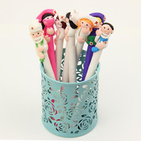 Wholesale Doctor Office Supply - 400 PCS Cute Cartoon Doctor Nurse Ballpoint Pen Polymer Caly Ball Point Pens for Writing Stationery School Office Supplies