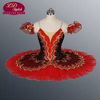 Wholesale Stage Costumes For Women - Red Ballet Tutu Stage Costumes Blue Professional Classical Ballet Tutu For Performance Tutu Ballet LD8943