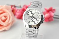 Wholesale Geneva Style Quartz - 2017 Hot Selling Fashion Clock dial Quartz Full Steel woman Watches Man Woman Quartz Watches speed sell hot style alloy Geneva ladies