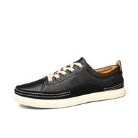 Wholesale Men Shoes Factory China - Casual Shoes With Pu Leather Men Spring Autumn Waterproof Hot Sale Solid Lace-up Man China Factory Fashion Flat Outdoors Shoe
