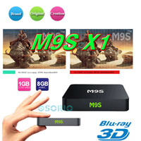 Wholesale tv box android cable resale online - 2017 M9S Amlogic S905x Android TV BOX M9S X1 GB GB K HD Set Top Box Smart GHz WiFi Media Player Support M Cable Network MXQ