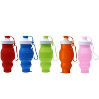 outdoor water activities - New Arrival ML Sport Portable Folding Water Bottle Eco friendly Silicone Drinkware For Outdoor Activities Daily Life
