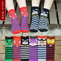 Wholesale High Street Mens Fashion Wholesale - Cute Cartoon Women Mens Socks Top Quality Lady Cotton Knee High Sock Street Harajuku Couples Sock Free Shipping