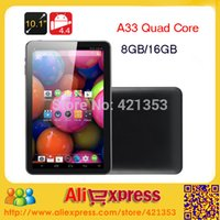 Wholesale 16gb Tablets Sale - Wholesale- 2015 New Hot Sale Cheap 10 inch Tablet PC Allwinner A33 Quad Core Android 4.4 Dual Camera 1GB 8GB 16GB ROM WiFi Bluetooth +Gift