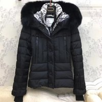 Wholesale White Fur Hooded Ski Jacket - Luxury M5818 Brand Design Women Ski Down Coat Big Fur Collar Thick Ladies Down Jacket Parkas Windproof Warm Winter Outerwear