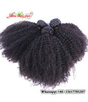 Wholesale Remy Bulk Hair For Braiding - Afro Kinky Curly Human Hair Bulk For Braiding non Remy 1pc Bulk Hair Weave Bundles No Weft Crochet Hair Extensions