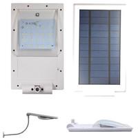 Wholesale 24 Leds - Updated Super Bright 24 LEDs Solar Powered Lamp Solar Street Light Waterproof Solar Lamp Sensor Security Light Adjustable Angle Gadern Light