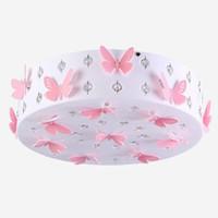 ingrosso farfalle luce del soffitto-Romantico Butterfly Girls Room Plafoniera Fashion LED Princess Room Plafoniera di cristallo Camera da letto Illuminazione a soffitto